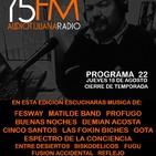 AudioTijuana Radio 75FM - Radio Mi Castillo - Episodio 22 - Cierre De Temporada - Agosto 18