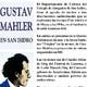 Sinfonía 6ta. en La menor de Gustav Mahler Apreciación Musical por Mario Melendi Grabación en vivo de la disertación