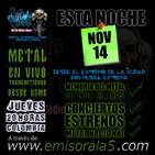 Punto Extremo MetalRadio Show 14 de Noviembre de 2019
