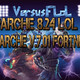 Parche 8.24 del LoL League of Legends y Parche V.7.01 del Fortnite.