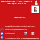 Llamamiento - Consulta Popular Estatal Monarquía o República