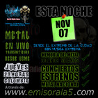 Punto Extremo MetalRadio Show 07 de Noviembre de 2019