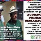 Domingo Baltazar rinde declaración tras detención injustificada