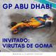 Bandera a cuadros 2x21 - gp abu dhabi  invitado: virutas de goma