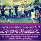 Especial conferencia MEMORIA VIVA DEL MOVIMIENTO VECINAL, organizada por La Barraca.