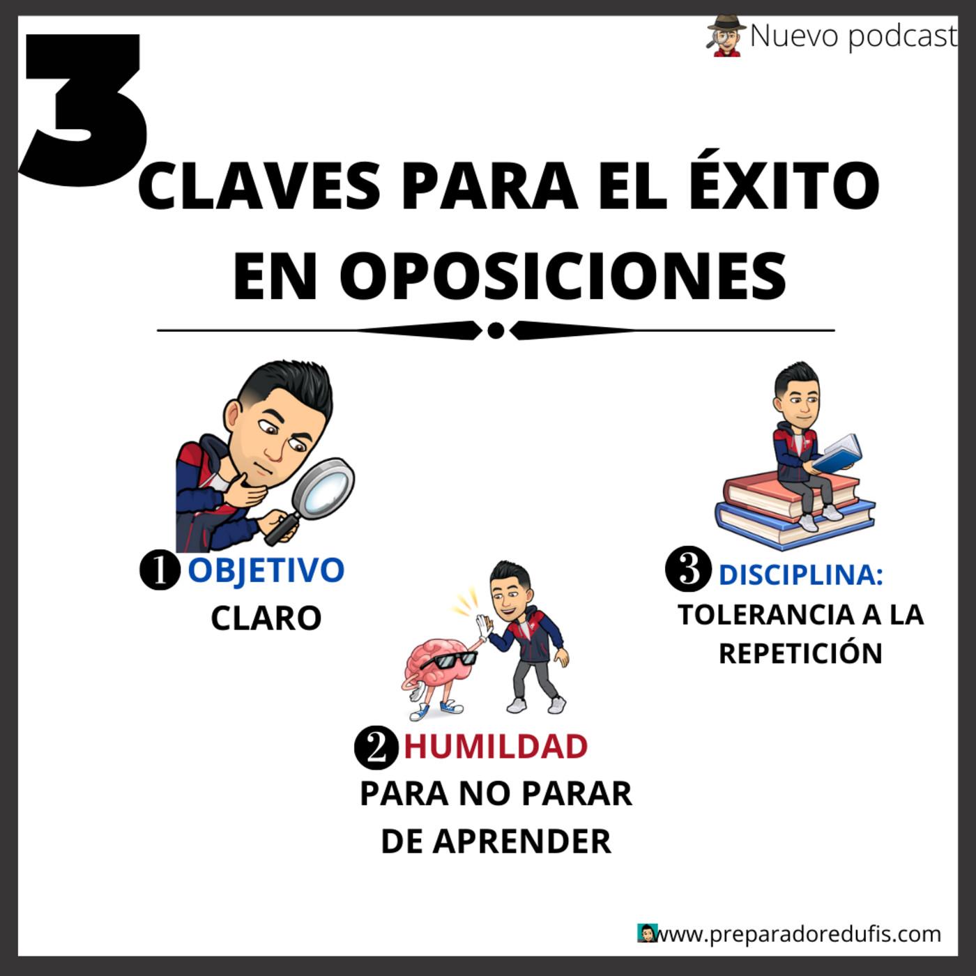 Las 3 claves del éxito en oposiciones