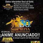 5x13: Desvelado el nombre de Ofiuco ·Exclusivas Bandai ·Soul of Gold y el futuro de Saint Seiya según Toei Animation