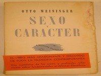 MEX-16 Otto Weininger,Sexo Y Carácter,Segunda Parte,O Principal Los Tipos Sexuales