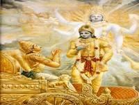 Krishna y Arjuna I (Bidean)