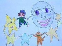 Visualización para niños-Bailando con la luna y las estrellas (Cáncer Infantil)
