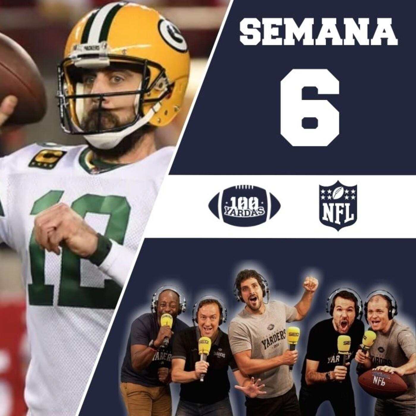 PREVIO SEMANA 6 NFL   Así viene la jornada 6 + duelo entre Aaron Rodgers y Tom Brady