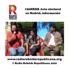 #26MElecciones Acto electoral en Madrid, información