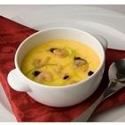 Crema de huevo al vapor con queso Grana Padano