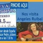 Angeles Ruibal con Eduardo Aldiser con Oscar Pedro Juliano -10-08-16 Radio Nueva Argentina FM 88.5 Ituzaingó