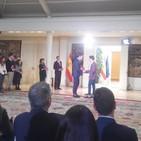 Entrevista a Enrique Iglesias joven Aguilar visita Moncloa