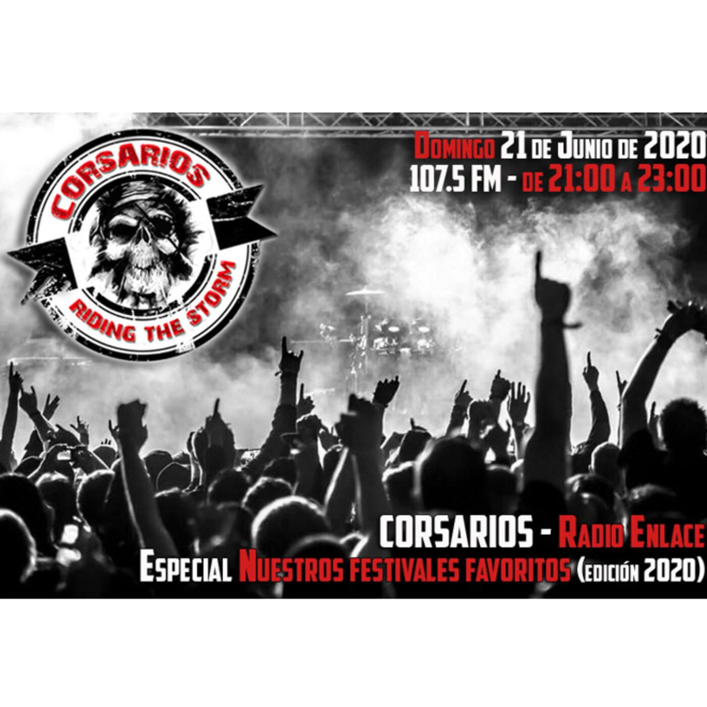 Corsarios - Especial festivales 2020 (edición Covid19) - Domingo 21 Junio 2020