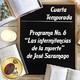 """Programa #6 - """"Las intermitencias de la muerte"""" de José Saramago"""