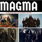 Magma metal en flujo