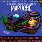 Noticias de abajo 13 Octubre 2018 Resistencia Mapuche