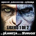 LODE 7x42 (1 de 2) –Archivo Ligero– Origen, Amanecer y Guerra del PLANETA DE LOS SIMIOS