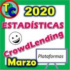 ESTADÍSTICAS CROWDLENDING - Oleada Marzo 2020 - Volumen de negocio, inversores registrados, rentabilidad...