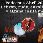 Podcast 4 Abril 2020 Lebron, rudy, euroliga... y alguna cosita mas