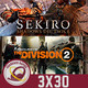 GR (3X30) Análisis completos de Sekiro: Shadows Die Twice y The Division 2