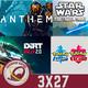 GR (3X27) Análisis Anthem y Dirt Rally 2.0. Novedades de Pokémon Espada/Escudo y Star Wars Jedi Fallen Order