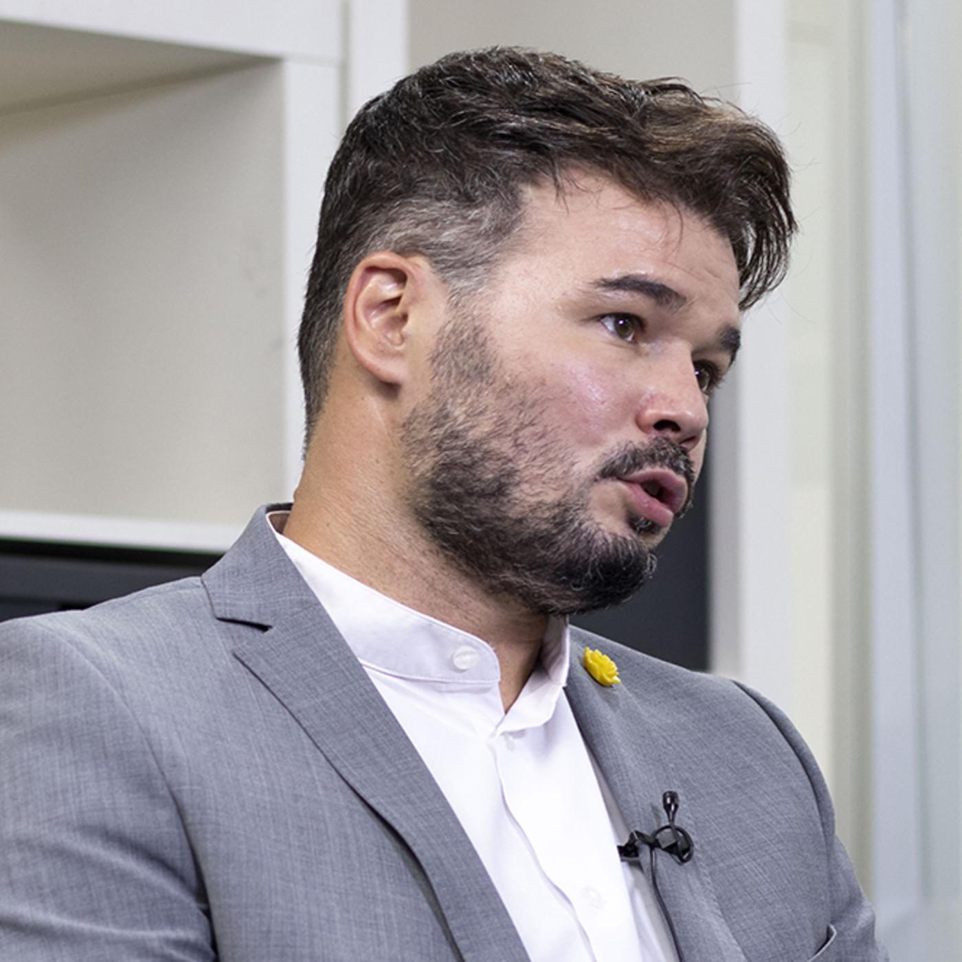 """Gabriel Rufián: """"Meter a Ciudadanos en la ecuación de los Presupuestos saca a Podemos para los próximos diez años"""""""