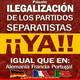 Ilegalizar partidos separatistas para preservar la democracia