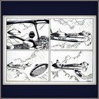 Capitán Carlos Antonio de los Santos Montiel (Tres platillos volantes en pleno vuelo)