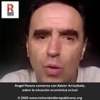 Ángel Pasero conversa con Xabier Arrizabalo, sobre la situación económica actual