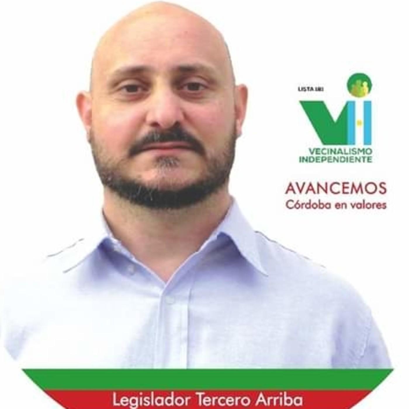 Pedro Figueroa, candidato a Legislador por Vecinalismo Independiente- el Depto. Tercero Arriba.