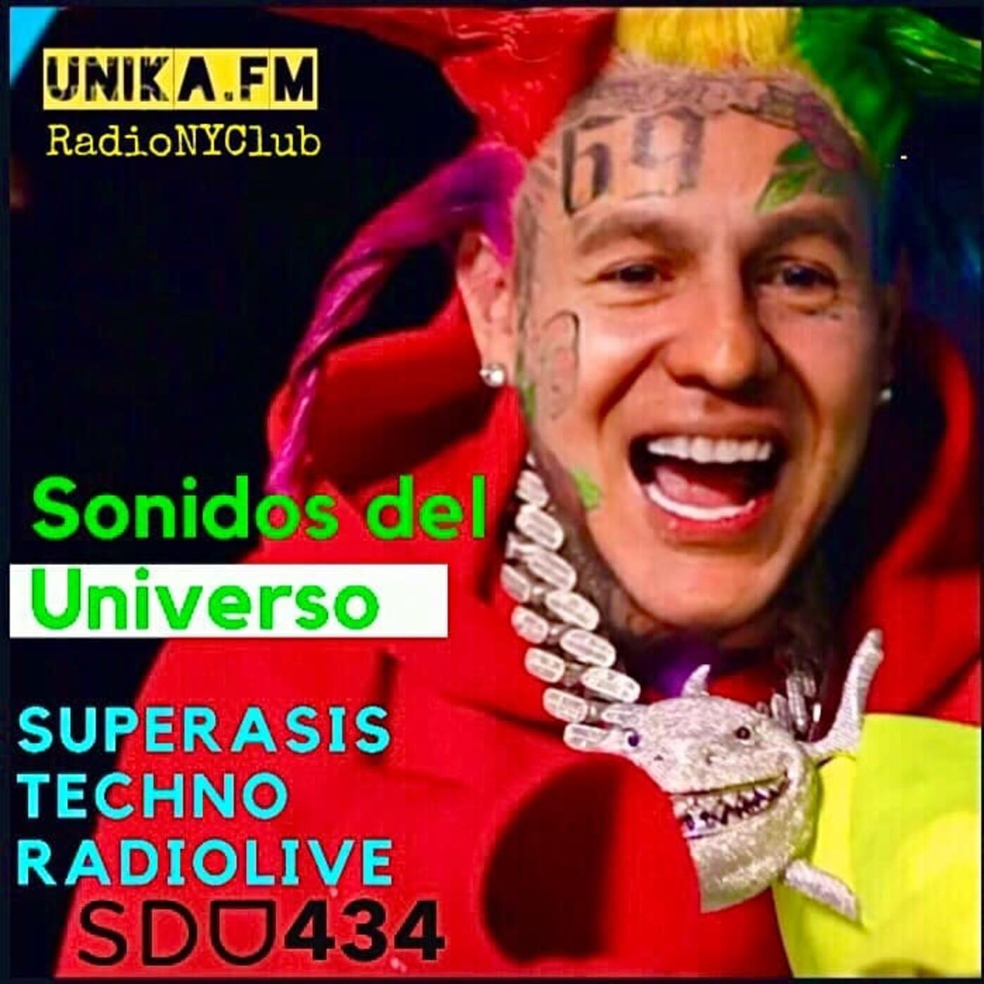 434.- SUPERASIS Presents: SONIDOS DEL UNIVERSO (SDU434) TECHNO RadioLive UNIKA.FM 22.09.20