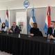 Conferencia de prensa de legisladores nacionales de Cambiemos en Crespo