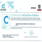 Proyecto ESPERANZA consigue el certificado de calidad EFQM
