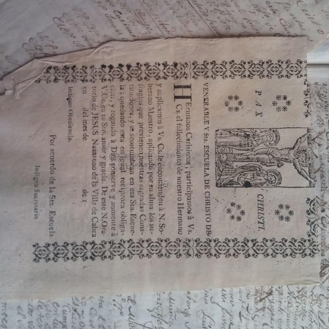 LA HISTORIA ENTRE LÍNEAS: La Santa Escuela de Cristo de Cabra, fundada en el año 1669