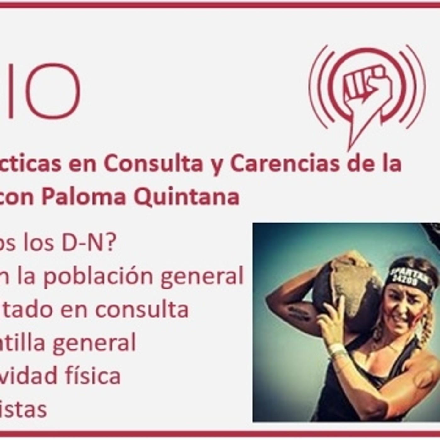 Episodio 114: Buenas Prácticas en Consulta y Carencias de la Formación en Nutrición, con Paloma Quintana