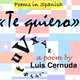 «Te quiero». A Spanish poem by Luis Cernuda