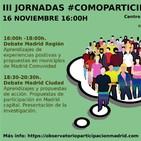 III Jornadas Observatorio Participación de Madrid #ComoParticipaMadrid