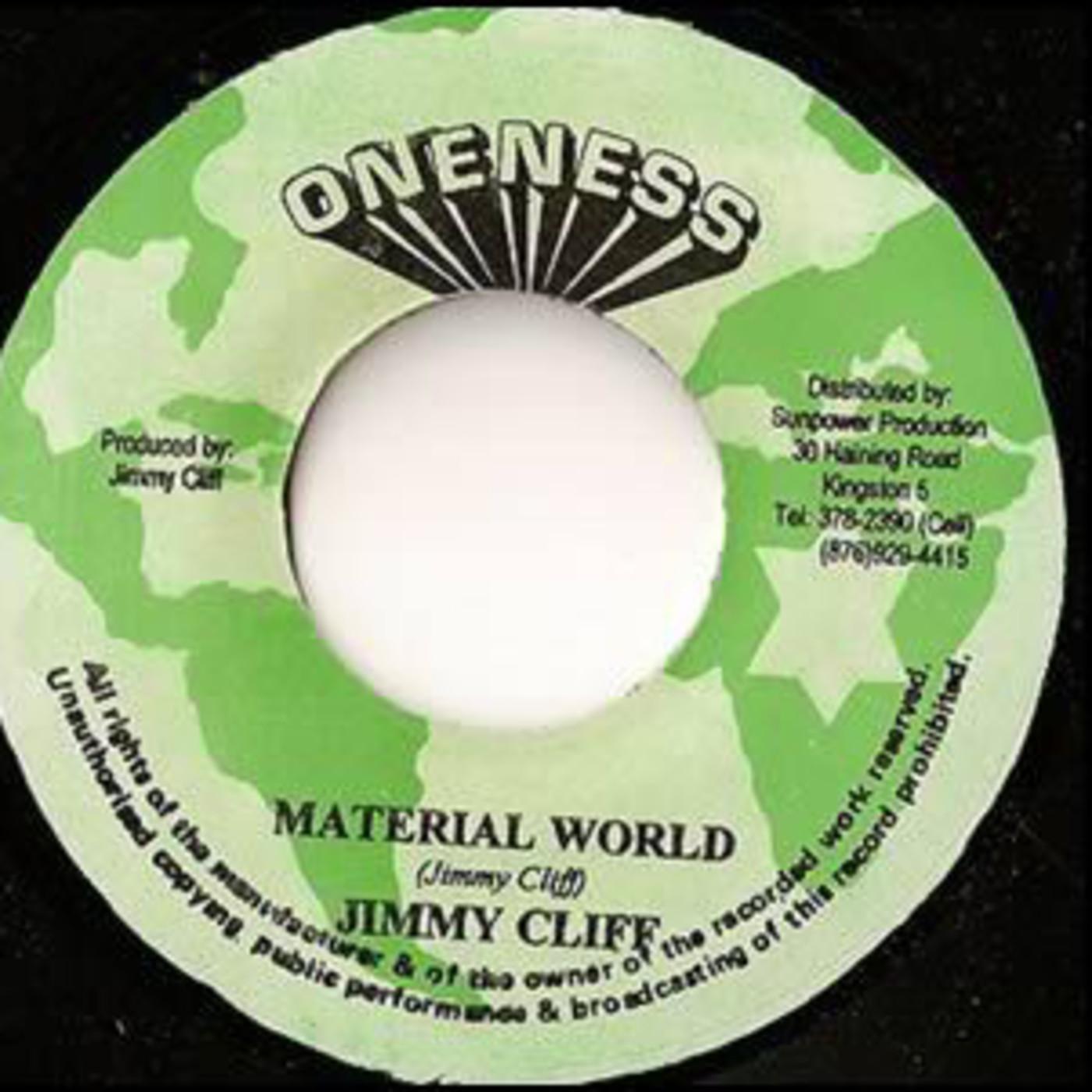 Bolacha de 1977 jimmy cliff - material world