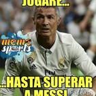 Cristiano a la sombra de Messi
