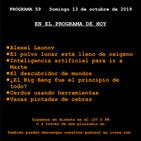 El Cronovisor. Programa 59. Alexei Leonov, Inteligencia artificial para ir a Marte...