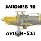 A10#57 AVIA B-534 Cazas en un Cielo Azul Oscuro