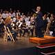 Gabriel Lucas Pérez y la Banda Municipal de Cascante. Más de un cuarto de siglo sonando juntos.