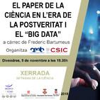 """Entrevista a Frederic Bartumeus @CEABCSIC sobre la xerrada """"El paper de la ciència en l'era de la postveritat i el """"Big"""