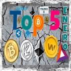 Edicion Especial: Top 5- Febrero: Litecoin- Bitcoin- Ethereum-BAT-WAX