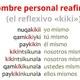 09 Pronombre personal reafirmativo