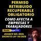 Permiso retribuido recuperable obligatorio | Real Decreto Ley 10/2020 (Coronavirus Covid-19)