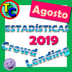 ESTADÍSTICAS CROWDLENDING - Oleada Agosto 2019 - Volumen de negocio, inversores registrados, rentabilidad...